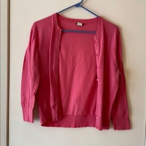 Hot pink Jackie cardigan from Jcrew